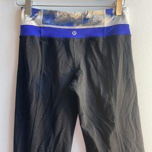 Lululemon Yoga Pants Size 4 Blue Black